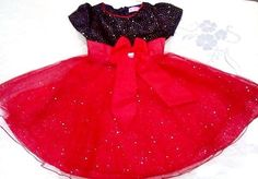 Red and Black party Girls Dress / Frock from Urban Buy