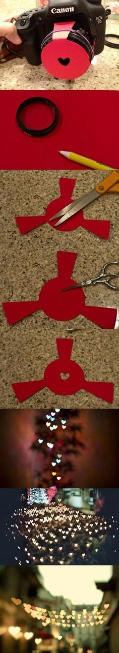 DIY Heart Camera Effects DIY Projects / UsefulDIY.com