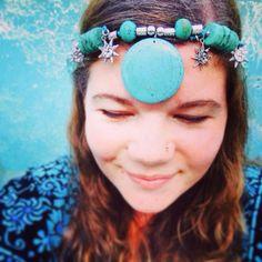 Aqua - Mermaid - Headpiece - Turquoise - Bohemian - Tribal - Gypsy <3 Recycled Mermaid Headpiece, Jenna Lee, Australian Birds, Aqua, Turquoise, Bird Feathers, Handcrafted Jewelry, Jewelry Crafts, Gypsy