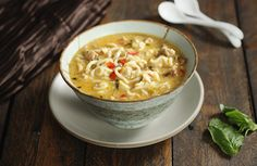 Coconut Curry Chicken Soup, from Soup Addict