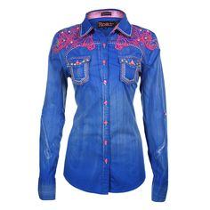 Roar Women's Roar Wild Embroidered Western Shirt
