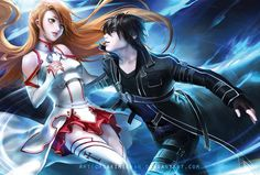 Asuna and Kirito   _Sword Art Online