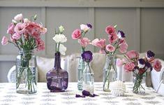 idées  déco avec bocaux en verre pour vos bouquets de fleurs