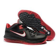 Nike LeBron 9 Low Black White-Cool Grey-Sport Red Sport