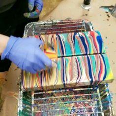 Acrylic Pouring Techniques, Acrylic Pouring Art, Acrylic Art, Paint Techniques, Drawing Techniques, Flow Painting, Pour Painting, Painting Lessons, Resin Art
