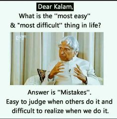 We become what we repeatedly do. Actions speak louder than words. The past is behind, learn from it. The future is ahead, prepare for it. The present is here, live it. Apj Quotes, Wisdom Quotes, True Quotes, Motivational Quotes, Inspirational Quotes, Qoutes, Quotes About Attitude, Good Thoughts Quotes, Kalam Quotes
