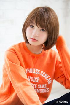 『 joemi 新宿 大久保瞳 』 小顔になれるヘルシーショート×メルトカラー 大久保瞳 | GARDEN HAIR CATALOG | 原宿 表参道 銀座…