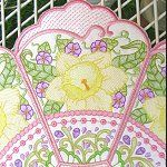Floral Doily - Daffodil Daffodils, Doilies, Machine Embroidery, Floral Design, Africa, Lily, Flowers, Ornament, Drawings