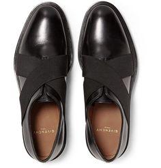 #givenchy #mrporter Elastic-Trimmed Polished-Leather Derby Shoes https://www.mrporter.com/en-us/mens/givenchy/elastic-trimmed-polished-leather-derby-shoes/704621