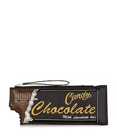 Chocolate bar clutch from New Look