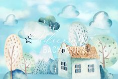 Fundal foto Little House Backdrops, Snoopy, Red, House, Painting, Fictional Characters, Boutique, Home, Painting Art