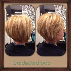 Graduated Bob using thinning shears!