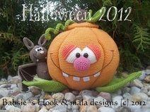 Kürbis, Halloween, Häkelanleitung pdf