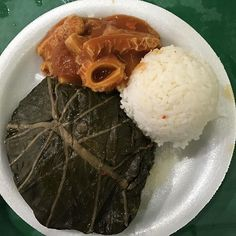 Hawaiian Lau Lau from Young's Fish Market @youngsfishmarket in #honolulu - #imenehunes #food #delicious #yummy #hawaiisbestkitchens #hawaiirestaurants #youngsfishmarket #hawaiianLauLau #hawaiianFood #HawaiiFood