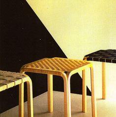 Alvar Aalto, Y-leg stool, 1947