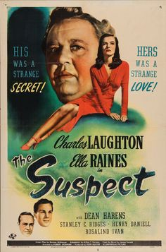The Suspect poster, t-shirt, mouse pad Old Movie Posters, Classic Movie Posters, Cinema Posters, Movie Poster Art, Classic Movies, Old Movies, Vintage Movies, Great Movies, Movies