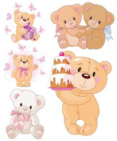 cute cartoon bear   vector