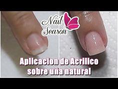 YouTube Acrylic Nail Drill, Diy Acrylic Nails, Acrylic Nail Shapes, Diy Nails, Nail Tech School, School Nails, Cotton Candy Nails, Natural Nails, Pedicure