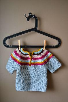 crumbs & purls: CROCHET: Cozy, Wattle Stitch Baby Sweater
