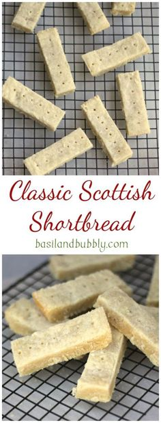Classic Scottish Shortbread (Finally, a perfect Walker's Shortbread Copycat recipe! Shortbread Recipes, Cookie Recipes, Dessert Recipes, Shortbread Cookie Recipe Scottish, Easy Shortbread Recipe 3 Ingredients, Shortbread Bars, Mini Desserts, Delicious Desserts, Yummy Food