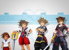 I think Sora in KHII is my favorite based on design