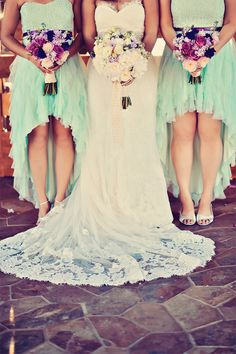 Mint Green Bridesmaids and Jewel Toned Bouquets / Tamiz Photography / 20 Beautiful Bouquets via Style Unveiled http://styleunveiled.com/20-beautiful-bouquets/