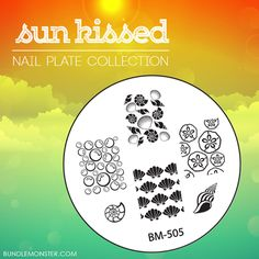 The days are counting down until the release of our newest SUNKISSED #nailplatecollection! Here's some of the designs in a nutSHELL! #bundlemonster  #shopbm