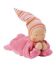 Pink Nicki Baby Doll by Kathe Kruse #toweldoll #kathekruse #kaethekruse #nickibaby #babygift #Christmas #kidsgiftsandtoys