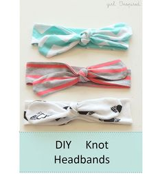 Tutorial: Easy knotted headbands