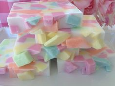 Spring Meadow Confetti Soap handcrafted by SeasideSoapKitchen, $6.00