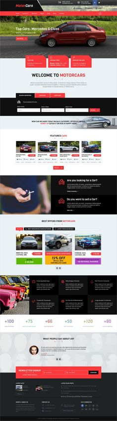 MotorCars is a wonderful #Photoshop template for stunning #rent, #sell or buy cares #eCommerce websites with 2 homepage layouts and 45+ organized PSD template download now➩ https://themeforest.net/item/motorcars-rentsellbuy-cars/19207976?ref=Datasata