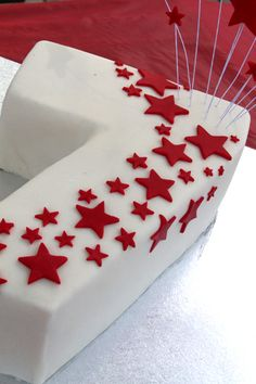 Number 7 - Star Birthday Cake. Cody approved.