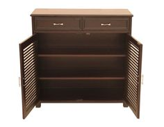 Furniture Point Louvre Shoe Rack With 2 Drawers