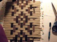 meshwork il primo intreccio - YouTube Pin Weaving, Paper Weaving, Fabric Weaving, Fabric Manipulation Techniques, Weaving Techniques, Basic Embroidery Stitches, Ribbon Embroidery, Ribbon Art, Ribbon Crafts