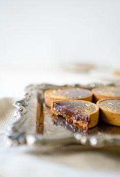 Salted Dark Caramel and Chocolate Tart