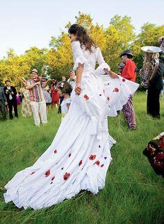 Oscar de La Renta, real weddings.