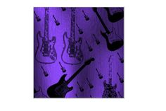 Guitar Art on Chromaluxe 40 x 40 cm MWL Design NL von MWL Design NL Wohndesign und Accessoires  auf DaWanda.com
