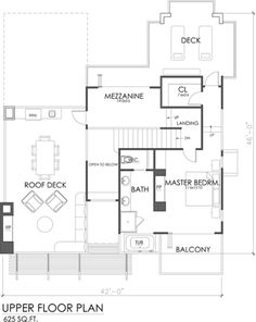 Modern Style House Plan - 3 Beds 3.50 Baths 1845 Sq/Ft Plan #484-2 Floor Plan - Upper Floor Plan - Houseplans.com