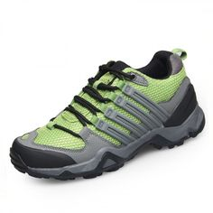 2016 wearable taller hiking shoes increase height 7.5cm / 2.95inch green outdoor sports shoes