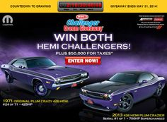 2 1/2 days left until the Challenger Dream Giveaway ends! Got tickets? Promo code:TP20141 for double tickets w/ a tax-deductible donation of $20 or more.  Grants to be provided to MADD, Camp Boggy Creek and Smile Network. www.winthemopars.com