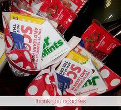 Coaches Thank You Gift Idea - movie tickets w/ printable