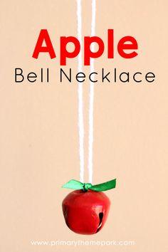 Apple Crafts for Kids: Apple Bell Neckalce appleactivities Fall Preschool, Kindergarten Crafts, Preschool Crafts, Kindergarten Apples, Preschool Apples, Apple Activities, Craft Activities For Kids, Craft Ideas, Easy Fall Crafts