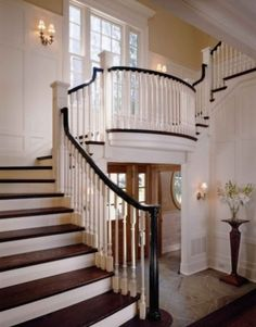 A beautiful traditional staircase.