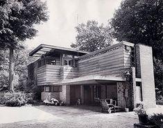 Lloyd Lewis House. 1939. Libertyville, Illinois. Usonian. Frank Lloyd Wright