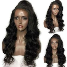 Luffy 13*6 Deep Part Glueless Lace Front Human Hair Wigs Malaysian Non-remy Hair Body Wave 130% density With Baby Hair