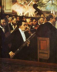"""Edgar Degas: """"Músicos na Orquestra"""" e """"A Orquestra da Ópera"""""""