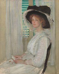 Black and White, 1912 ~ Emanuel Phillips Fox ~ (Australian: 1865-1915)