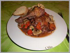 Lecker mit Geri: Coq au vin (Hähnchen in Rotweinsoße) - Пиле по френски с винен сос (Кок о вен)