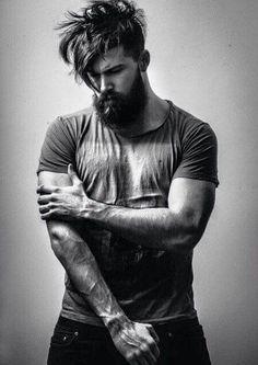 sexy bearded man