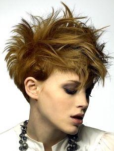 Textured Short Hair Style
